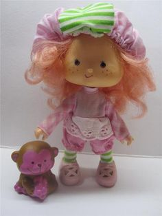 Strawberry Shortcake Doll, Raspberry Tart and Pet! I still have this monkey!