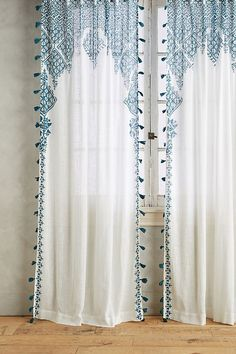 Curtains are dressy window coverings that can alter the appearance and do wonders for rooms in a home. It can make a room look more spacious or compac. Moroccan Curtains, Moroccan Bedroom, Home Curtains, Moroccan Decor, Moroccan Style, Kitchen Curtains, Moroccan Lanterns, Moroccan Interiors, Beach Style Curtains