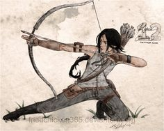 """Zoe Nightshade by ~heartacid on deviantART"" actually this is Katniss everdeen. But anyways :)"