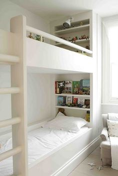Childrens room:shared: Excellent built in bunks, i like the shelves and the light