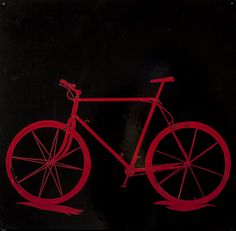 Red Bicycle Hand-cut Vinyl on Board Bicycle, Husband, Paintings, Board, Red, Bicycle Kick, Bike, Bicycles, Painting