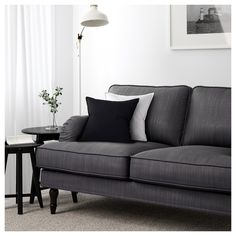 IKEA STOCKSUND three-seat sofa 10 year guarantee. Read about the terms in the guarantee brochure.