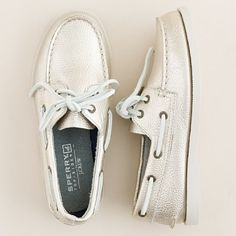 Sperry Top-Sider® Authentic Original metallic leather boat shoes