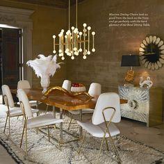 Veja mais em Casa de Valentina www.casadevalenti... #details #interior #design #decoracao #detalhes #dining #jantar #gold #dourado  #casadevalentina