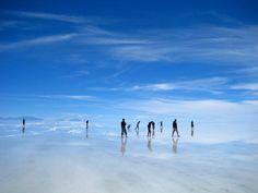 Salt flakes in Bolivia