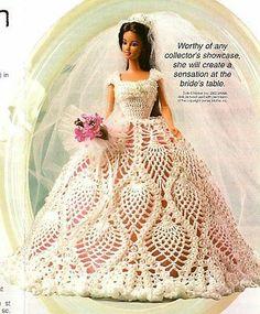 X810 Crochet PATTERN ONLY Fashion Doll Wedding Gown Pattern Barbie