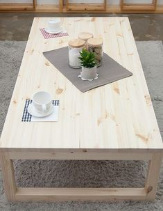 모던 슬림 좌식 테이블 | 원세븐나인