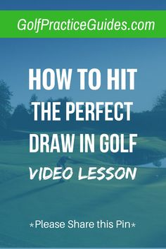 how to hit a draw in