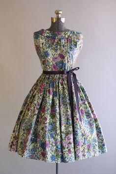 Vintage 1950s Dress / 50s Cotton Dress /Jerry Gilden