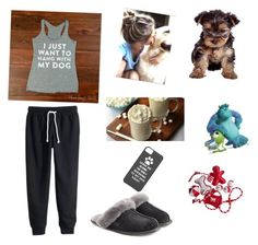 """""""I just want to hang with my dog"""" by sopluvesonedirection ❤ liked on Polyvore featuring moda y UGG Australia"""