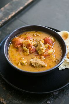 Lamb Korma ~ Lamb korma Afghan style, lamb leg or shoulder slowly cooked in a stew with onions, tomato, spices and yogurt. ~ SimplyRecipes.com