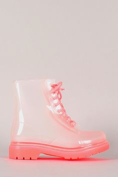 Rosette Spectrum-01 Jelly Lace Up Rain Boot