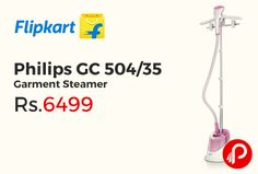 Flipkart brings Winter Essential Appliances and offering 24% off on Philips GC 504/35 Garment Steamer Just at Rs.6499. Now you don't have to use those heavy iron boxes and struggle to remove creases from clothes, as Philips brings to you an easier way out – this DailyTouch garment steamer.   http://www.paisebachaoindia.com/philips-gc-50435-garment-steamer-just-at-rs-6499-flipkart/