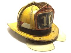 Vintage Fire Fighters Helmet Cairns Brothers Metal Used PG County Maryland