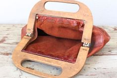 Vintage LEATHER BERMUDA Bag / Late 1960s or by BluegrassBooty