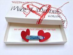 Geldgeschenke - Geld verschenken zur Hochzeit -alle Farben - ein Designerstück von Kunstundtext bei DaWanda