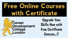 Free Certificate Courses, Online Courses With Certificates, Online Writing Courses, Best Online Courses, Free College Courses, Free Courses, Study Websites, Online College Degrees, London Free