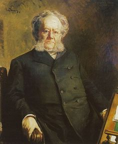 Potrait of Henrik Ibsen, 1895, by Eilif Peterssen (Norwegian, 1852-1928).