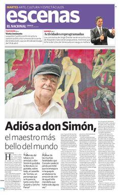 Falleció el editor adjunto de El Nacional, Simón Alberto Cansalvi. Publicado el 12 de marzo de 2013.