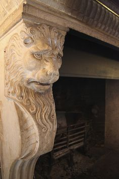 Fireplace Carving  Warwick Castle