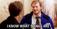 Parks and Recreation: 25 Great Andy Dwyer Quotes - IGN Parks And Recreation Gifs, Parks And Rec Gif, Parks N Rec, Andy Dwyer, Andy Park, 3 Gif, Short Article, Chris Pratt, Me As A Girlfriend