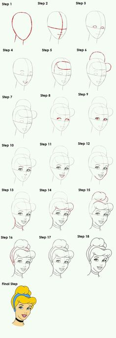 10 Disney How To Drawings – Brighter Craft – Zeichnung Easy Disney Drawings, Disney Princess Drawings, Disney Sketches, Easy Drawings, Pencil Art Drawings, Art Drawings Sketches, Cartoon Drawings, Cinderella Drawing, How To Draw Cinderella