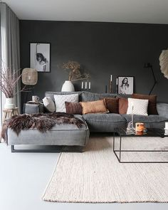 De make-over van onze hal en toilet met verf van Farrow & Ball salon Cozy Living Rooms, Living Room Grey, Home Living Room, Apartment Living, Interior Design Living Room, Living Room Designs, Modern Living Room Design, Apartment Design, Interior Livingroom