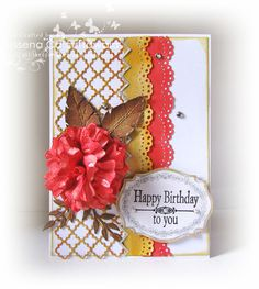 Quill and Punch Works: A glittery birthday! featuring Small Labels 18 stamp set