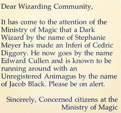 Haha. Though, I did enjoy reading the Twilight books too.