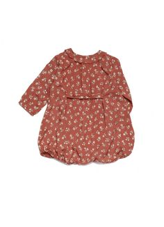Nikau Baby Romper / Auburn - Caramel Baby & Child - Designers : Fawn Shoppe - Global Boutique For Unique Children's Designs