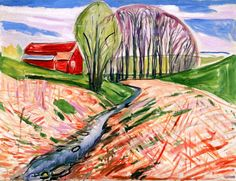 The Red House Edvard Munch - 1934-1935