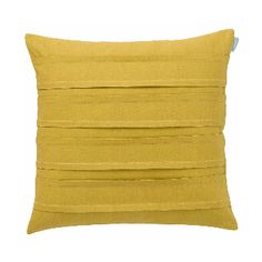 Spicy mustard double pleat cushion is the perfect plain to mix with more flamboyant designs. Simple, but with added interest from the inverted pleats that run horizontally across the front of the cushion.