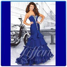 Beautiful blue! #prom14 #prom #prom2014 #bluepromdress #blue #tiffanyprom