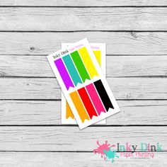 New to InkyDinkPrinting on Etsy: 8 Rainbow Flags Sample Sheet Planner Stickers Erin Condren Happy Planner Plum Planner Sticker Sampler EC Life Planner SP-10 (1.50 USD)