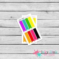 New to InkyDinkPrinting on Etsy: 8 Rainbow Flags Sample Sheet Planner Stickers Erin Condren Happy Planner Plum Planner Sticker Sampler EC Life Planner SP-10 (1.50 USD)