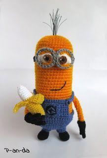 """P-an-da: Миньон из м/ф """"Гадкий Я"""" / Crochet Minion Despicable Me"""