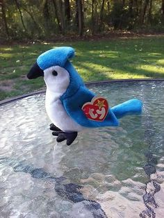 918b7aecbee Ty Rocket Retired Beanie Baby With Ultra Rare Errors Blue Jay Bird Plush  Toy  Ty
