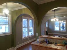 Craftsman Kitchen And Breakfast Nook Walls Painted Sherwin Williams Lemon Verbena
