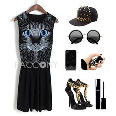 """""""Punk Style Outfit"""" by pacconylois on Polyvore"""