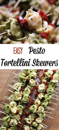 These Easy Pesto Tortellini Skewers are served up room temperature (or cold) mak. These Easy Pesto Tortellini Skewers are served up room temperature (or cold) making them a great choice for bringing along to potlucks, BBQ&. Easter Appetizers, Cold Appetizers, Appetizers For Party, Halloween Appetizers, Delicious Appetizers, Appetizer Ideas, Easy Summer Appetizers, Avacado Appetizers, Healthy Appetizers