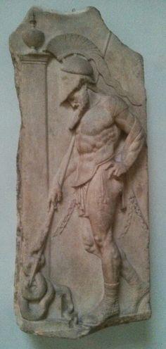 Greek Warrior Grave Relief