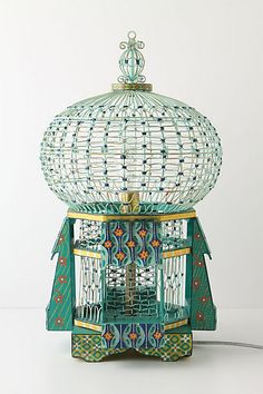 Pagoda Lamp :: Eves and towers of light radiate upon your table from this handcrafted iron luminary.