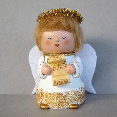 Christmas Angel Flowerpot Bell Ornament by sanquicreations on Etsy, $8.99