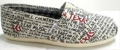 WHAT!!!! Texas Toms.... i need a pair :)