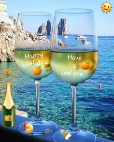 Happy Birthday, have a cool one ! Happy Birthday Drinks, Happy Birthday Greetings Friends, Happy Birthday Frame, Happy Birthday Wishes Quotes, Happy Birthday Celebration, Happy Birthday Flower, Happy Birthday Friend, Birthday Wishes Cards, Happy Birthday Cakes