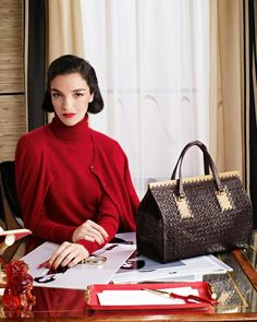 Mariacarla Boscono for Neiman Marcus Christmas Book 2013