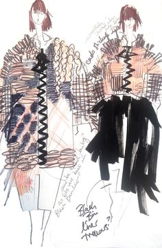Fashion Sketchbook - fashion design sketches; creative process; fashion portfolio // Hayley Grundmann