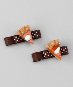 Take a look at this Pumpkin Pie Clip Set by Pink Poseys Bowtique on #zulily today!