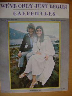 Sheet Music--'We've Only Just Begun' Carpenters 1970
