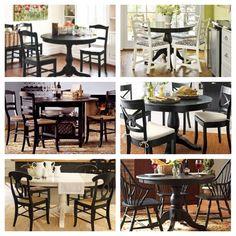 Black kitchen tables